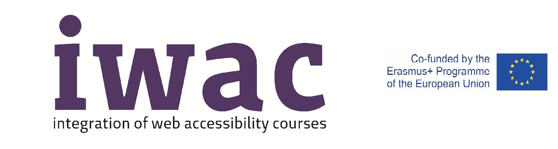 Immagine con scritto IWAC e logo della Comunità Europea
