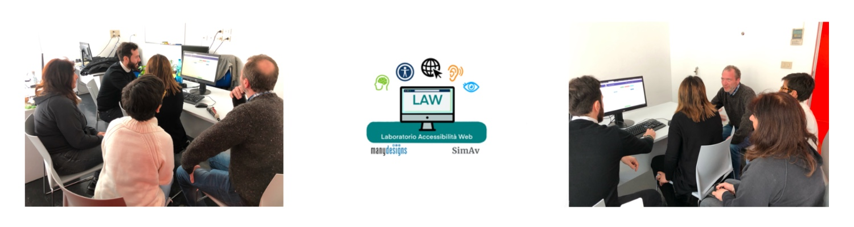 Logo e immagini di attività di test con utenti